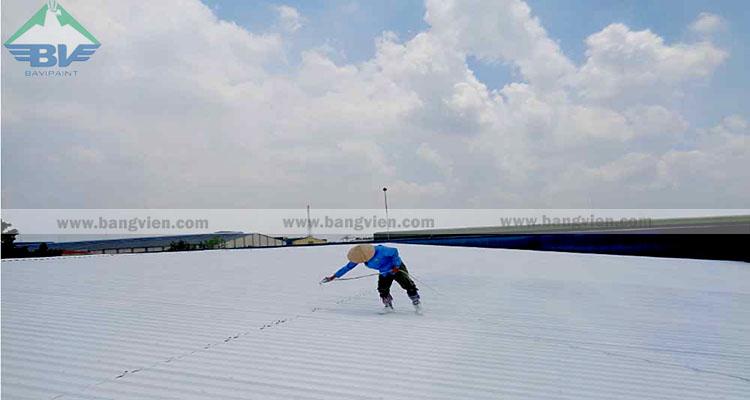 Sơn chống nóng mái tôn cách nhiệt